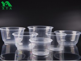 Clear Plastic Bowls, food pot container, deli container, portion cups, clear source pots